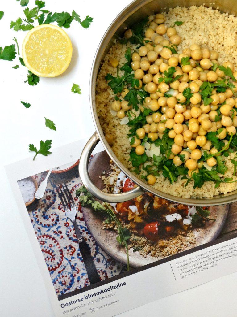bloemkool tajine kikkererwten couscous