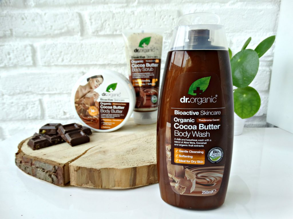dr organic cocoa butter body wash