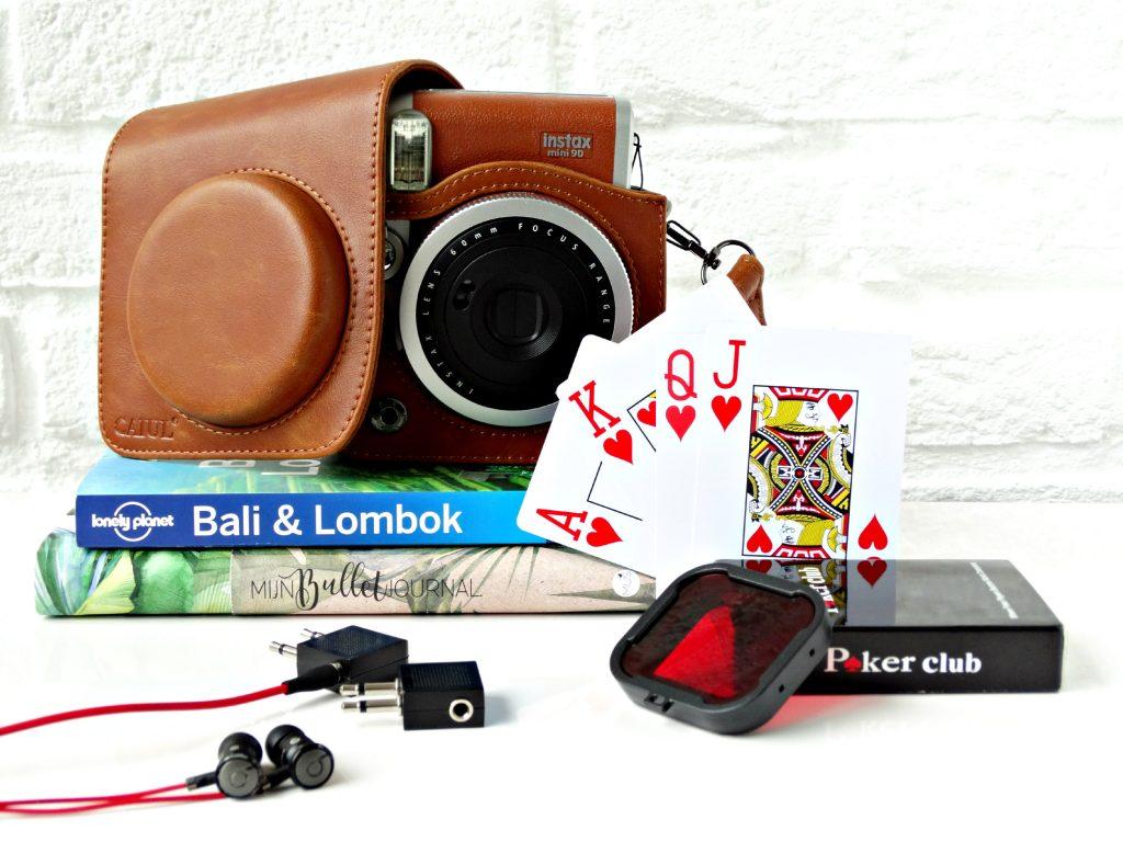 reisgadgets van aliexpress filter go pro waterproof speelkaarten tas polaroid camera