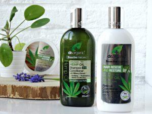 Hennep olie shampoo conditioner dr organic