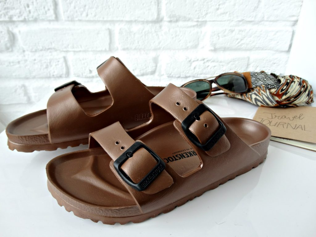 birkenstock sandalen metallic copper