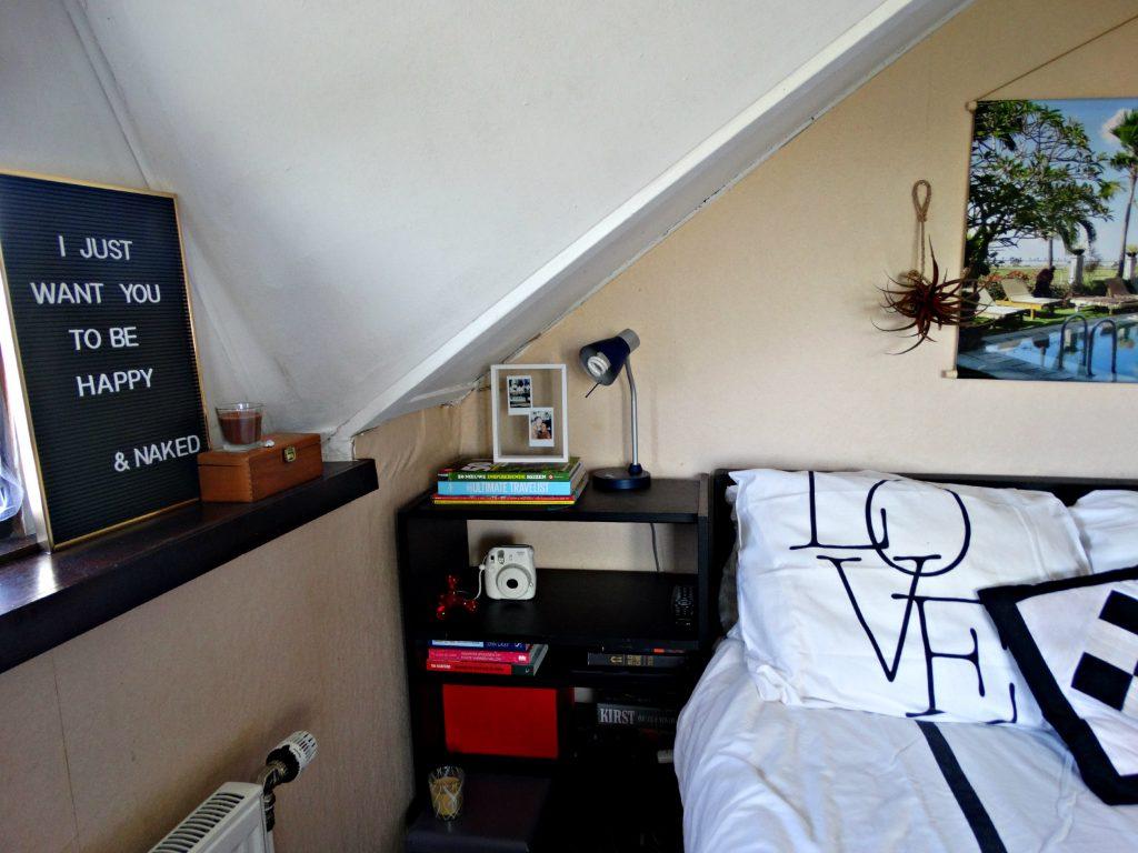 slaapkamer memobord instax polaroid interieur foto op textielposter