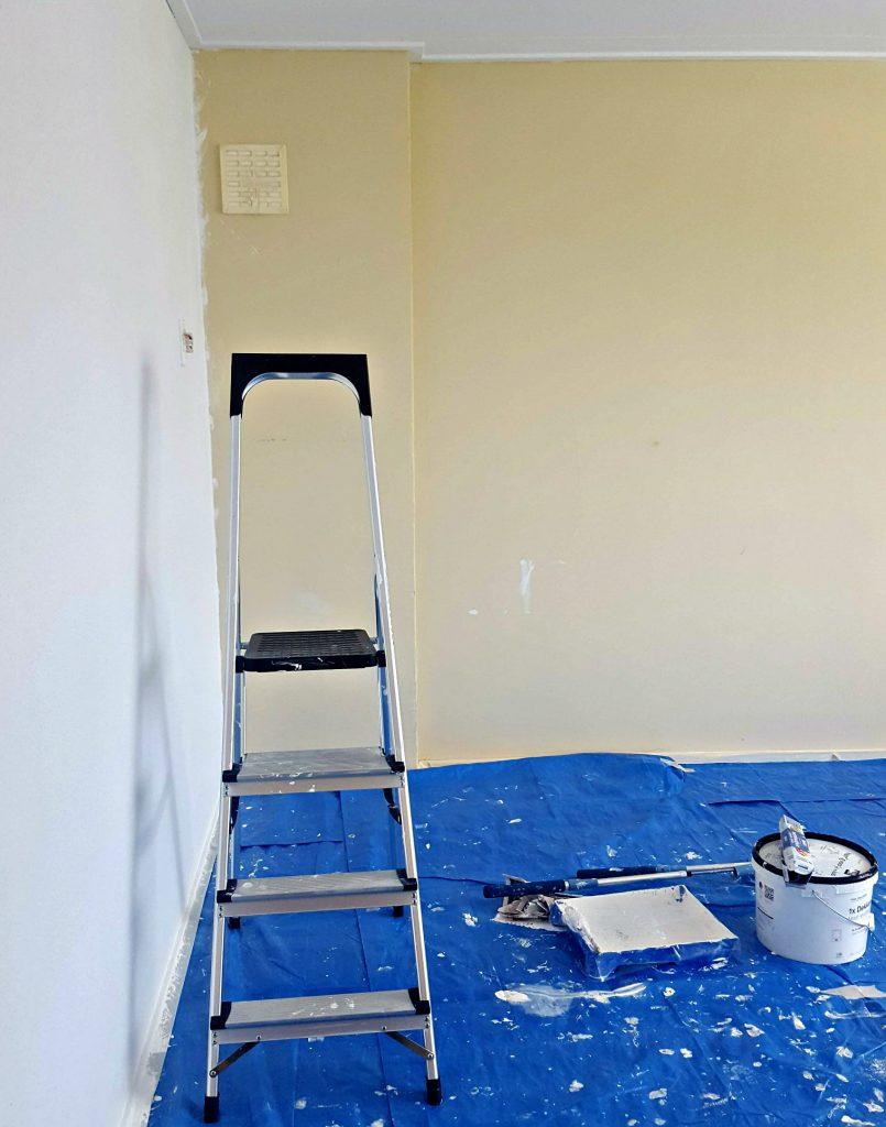 verhuizen verven geel wit