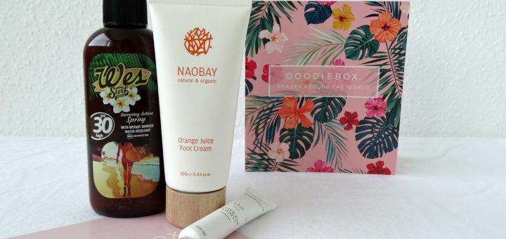 goodiebox unboxing wes surf zonnebrand naobay voetencreme beauty