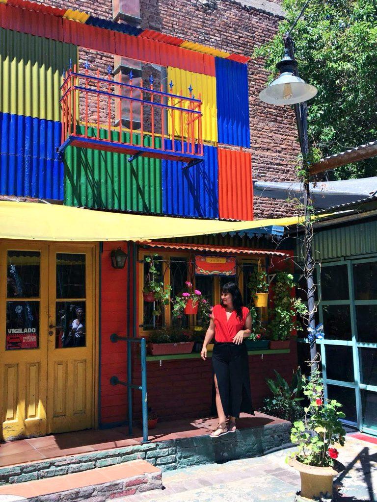 La boca gekleurde huizen doen in Buenos aires