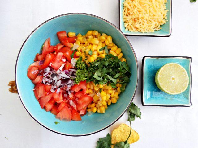 tomaten salsa nachoschotel recept vegetarisch tex mex