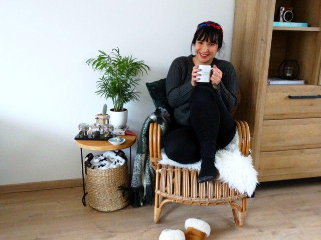 verse thee genieten van kleine dingen rotan stoel interieur