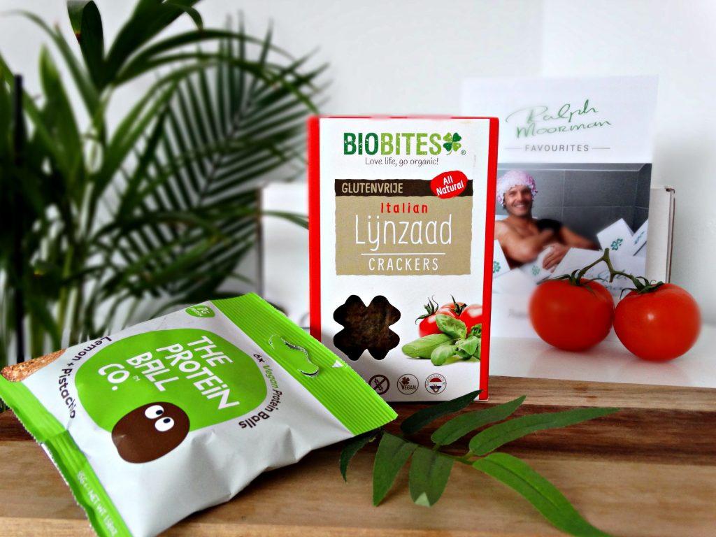 gezond genieten gezondigen lijnzaadcrackers biobites proteine ballen protein balls gezonde snacks