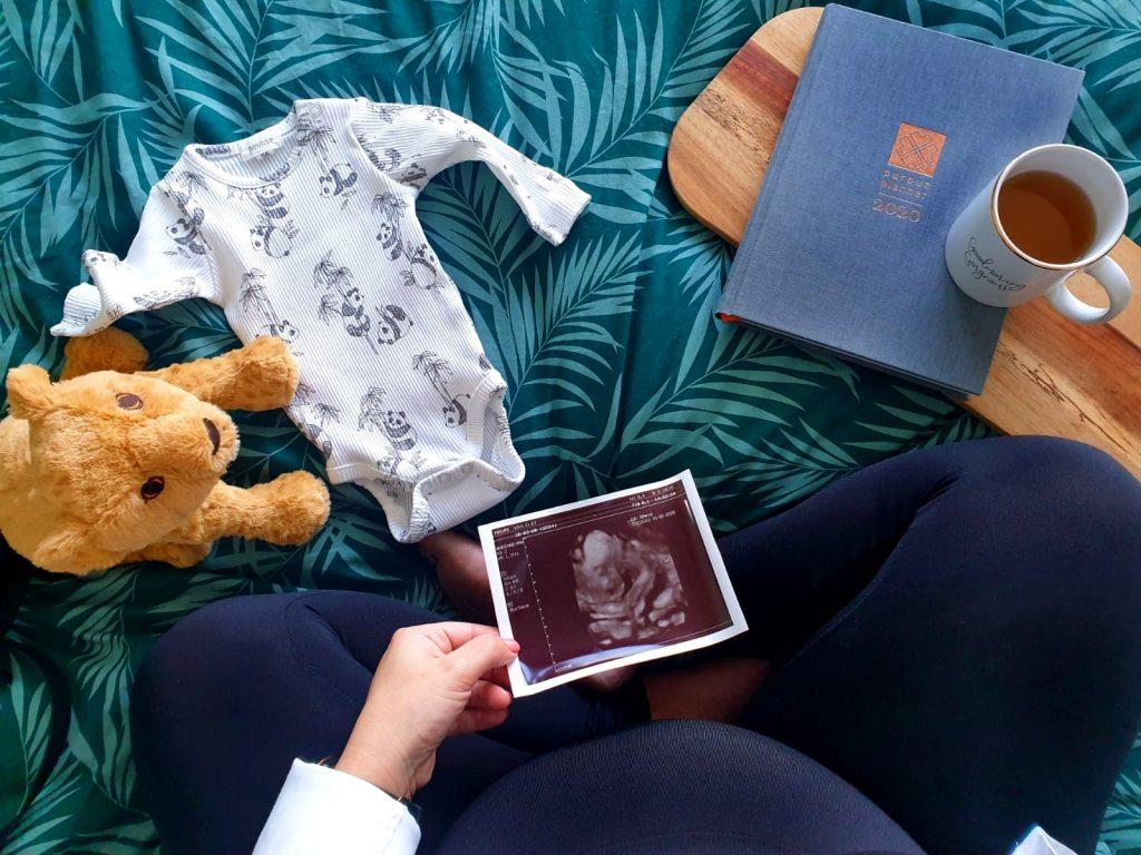 zwanger purpuz planner echo foto