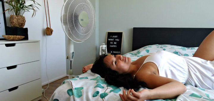 ventilator afkoelen hoofd koel houden bloggen rusten