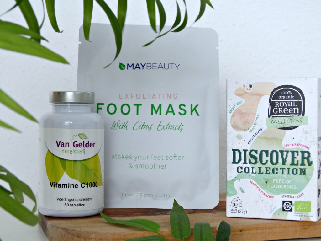 royal green thee maybeauty voetenmasker van Gelder vitamine c1000