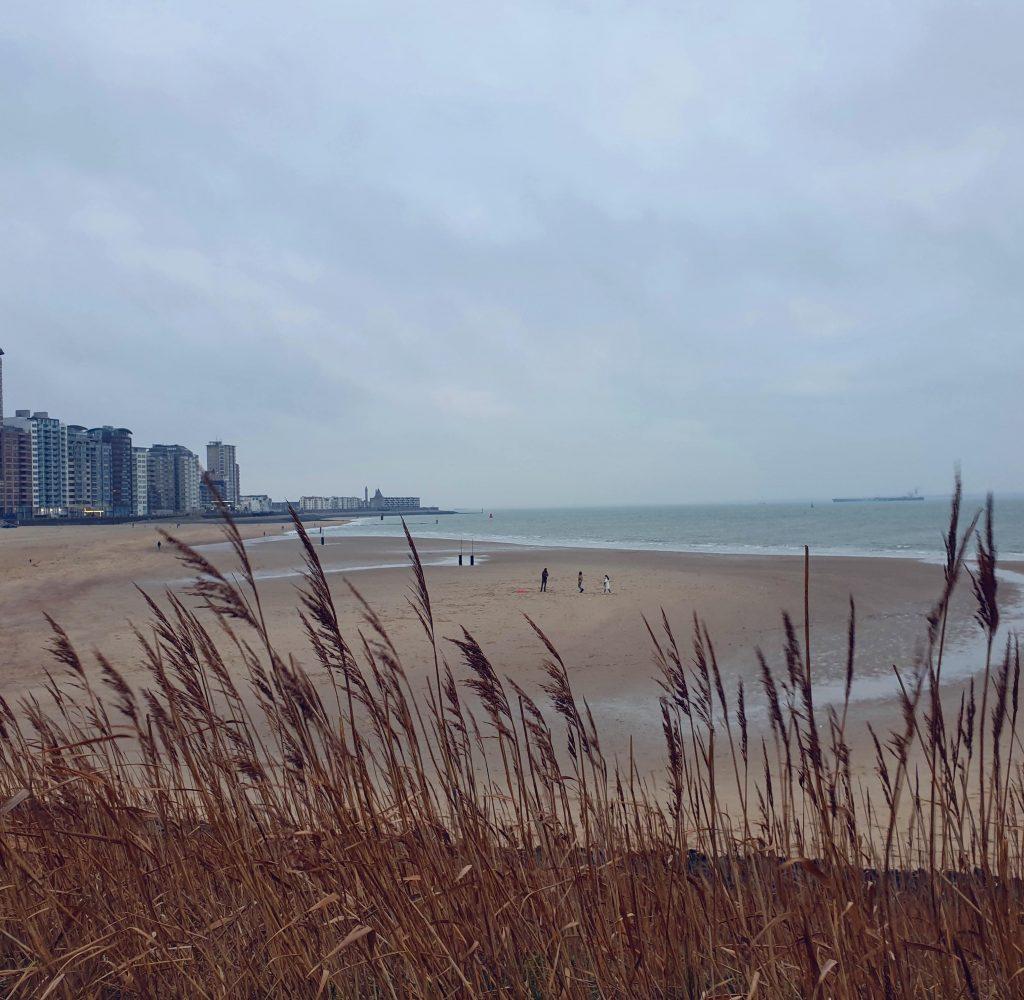 verlaten strand vlissingen zeeland