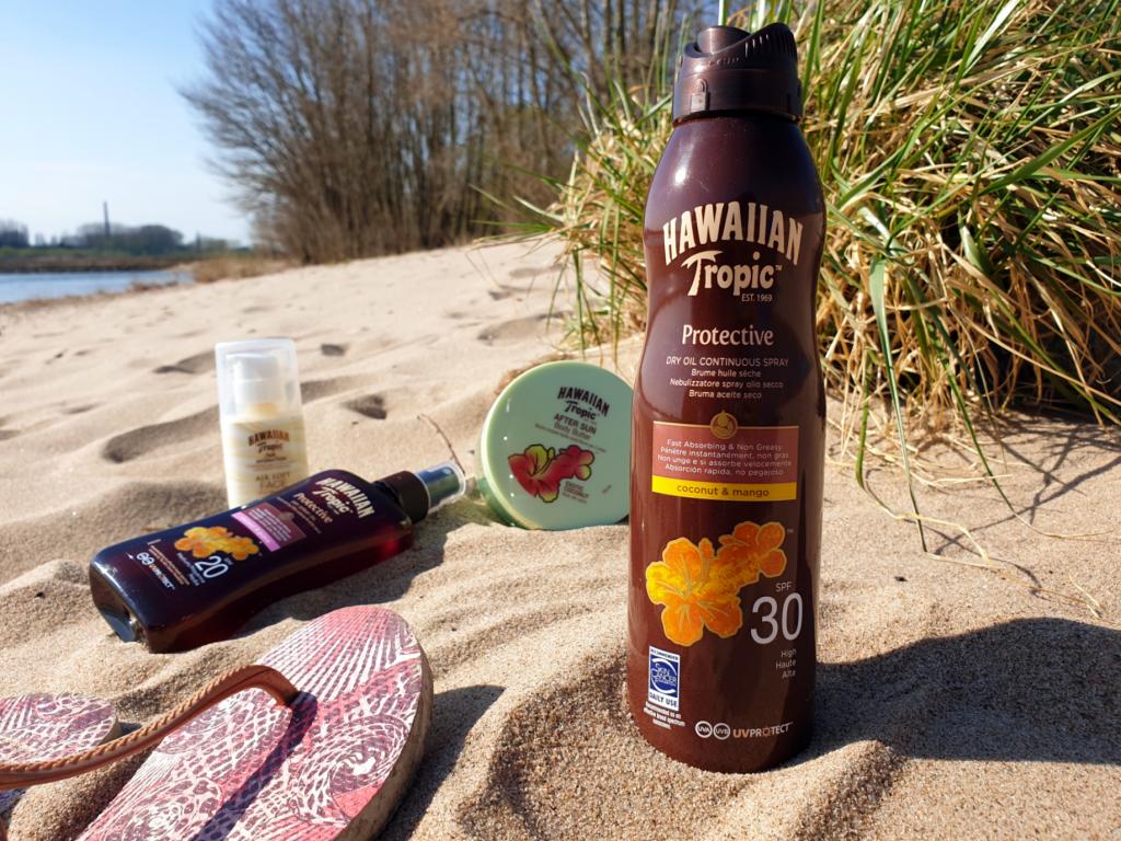 zonnebrand spray kokos strand huidverzorging