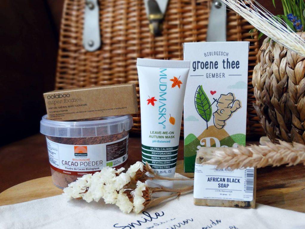 mudmasky groene thee producten om de herfst door te komen cacao