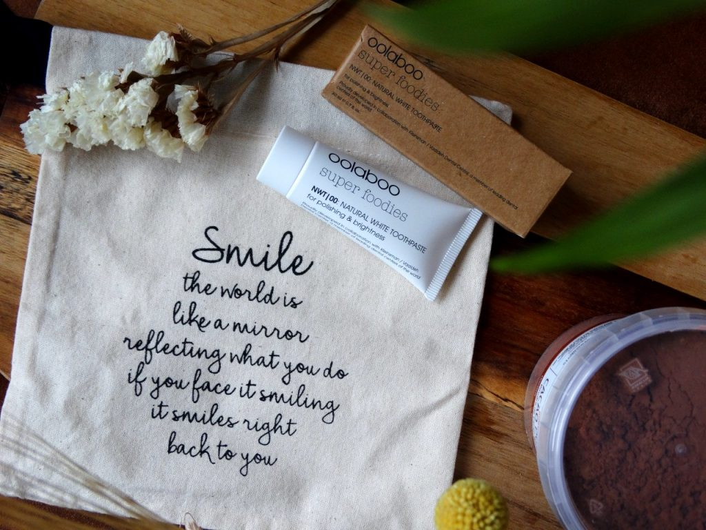 oolaboo tandpasta smile quote jouwbox