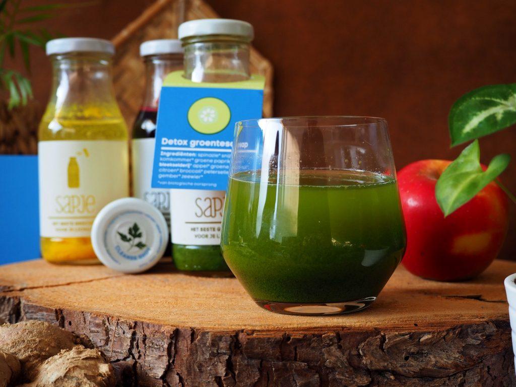 dagelijkse portie groente en fruit sap detox kuur gezonde levensstijl