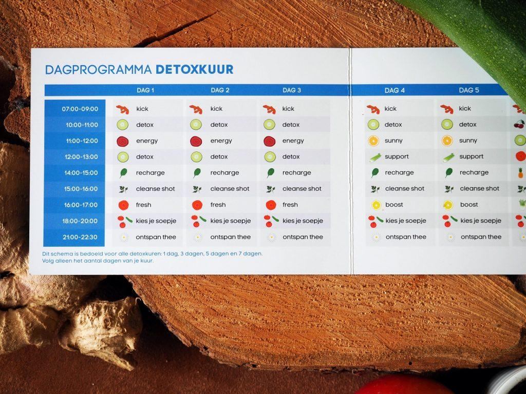 dagprogramma detoxkuur sapje