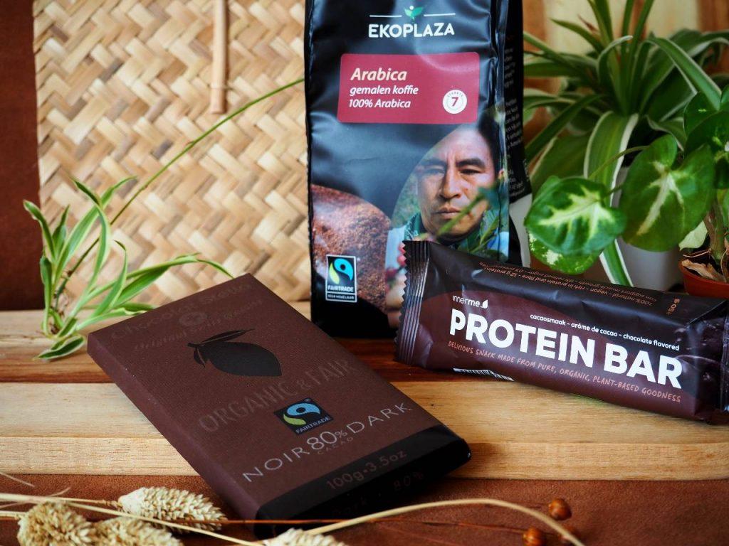 ekoplaza jouwbox protein bar koffie chocolade